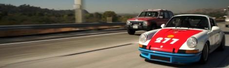 Lenktyninė Porsche 911T interpretacija Jay Leno garaže