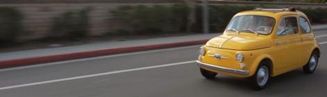 Saulės nutviekstas greitis / Fiat 500