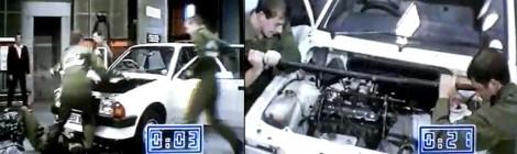 Rekordas - pakeisti variklį per 42 sekundes