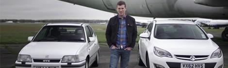 Dvikova: Opel Kadett GTE prieš šių dienų Opel Astra CDTI