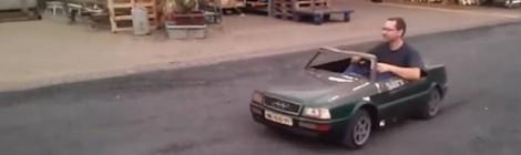 Audi kabrioletas kokio dar nematėte / Video