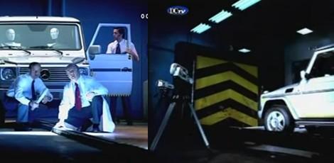 Saugumo testas su Mercedes-Benz G klase / Reklama